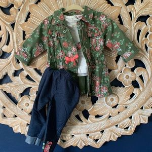 Little Lass 3 Piece Military Jacket Outfit